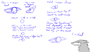 Small tutorial on how to draw Sergal head by bomb0