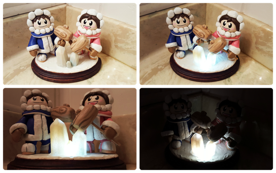 Ice Climbers Light-Up Sculpture by Kyreon