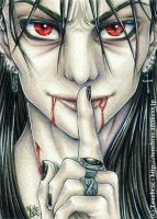 ACEO: Androgyny Vampyre by 1000Dreams