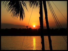 Sunset Over The Nile by danielcraggs