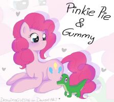 Pinkie Pie and Gummy by Drawing-Heart