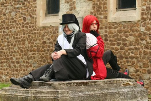 The Undertaker and Grell by dragonloveruk