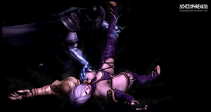 'Mortal Calibur' - Ivy V.S. Sub-Zero 2 by Schizophreak3D