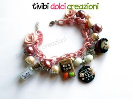 Japan inspired bracelet - PiNK version by tivibi
