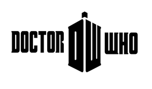 Doctor Who 2010 Logo Basic BnW by TimeTravelingTardis