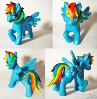 MLP.FIM. Rainbow Dash Sculpture by ElliotShoe
