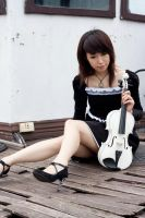 girl with violin6 by xiaochi
