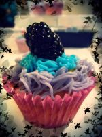Blueberry Cupcakes by VanillaVictoria