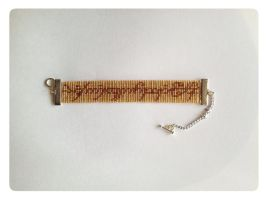 Lord of the Rings - The One Ring - Beaded Bracelet by kitsunesama7