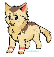 Wolf design for TinyWolfy by LizzysAdopts