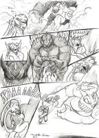 HPea VS Golem page WIP by Mickeymonster