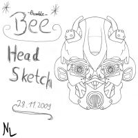 Bumblebee -Head Sketch- by Rumblebee88