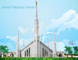 Manila Philippines Temple by liagiannjezreel