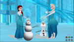 Elsa and Red Hair Elsa Let it Go by caninesrock