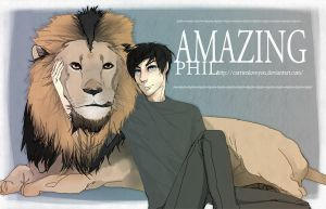 amazingphil with that lion by carrienloveyou