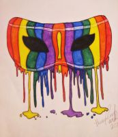 Rainbow painted mask by Jade1221