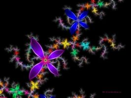 Metalic Fractal flowers by CMDRCHAOS