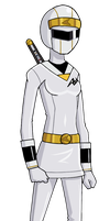 Kakuranger: Ninja White by Glee-chan