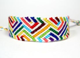 Rainbow Optical Illusion Friendship Bracelet by QuietMischief