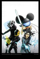Daft Punk comic cover 02 by deathdetonation