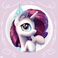 Rarity Button by Bobdude0