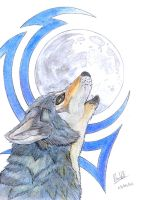Howl unto a Celtic Moon by BlueWolf-87