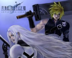 FFVII-2 Cloud x Sephiroth by coffingirl