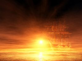 Ghost ship by xoxroth
