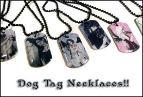 Fantasy Art Dog Tag Necklaces by ElvenstarJewelry