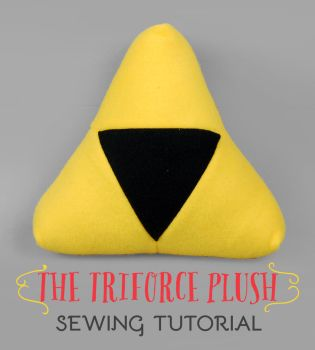 Sewing Tutorial: The Triforce Plush by SewDesuNe