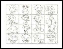 Many Faces Of Stewie Griffin 1 by InsaneKane87