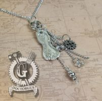 Steampunk SpoonTrinket Necklace - Magnolia 1951 by Doctor-Gus