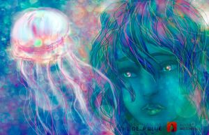 The Deep Blue: Jelly-Bubbles by doll-fin-chick