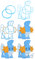how to: mudkip by jenzye