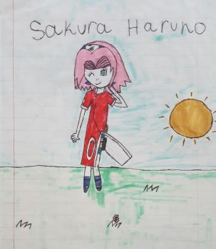 My Old Drawing of Sakura Haruno by princessahagen