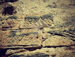 Iberian marks in Roman wall by Apoloelmaschulo