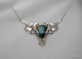'World of dragons', sterling silver necklace by seralune