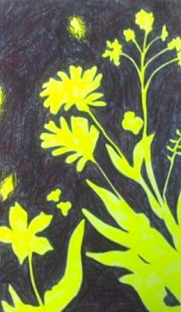 Silhouette of Flowers Yellow by LaurenJLee