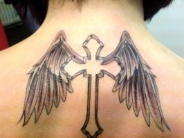 cross with wings by BMXNINJA