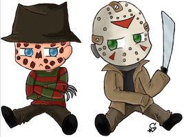 Chibi Freddy vs Chibi Jason by ClearGuitar