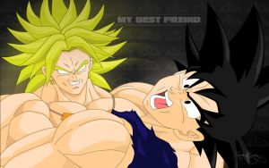Broly's Best Friend Wallpaper by Spartan1028