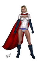 Powergirl Render by GustavoArmando