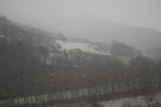 The snow collapse in the valley by No-et-Me