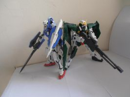 Exia and Dynames by Ninjaboy117