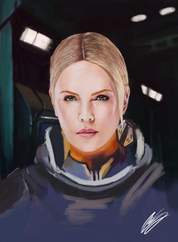 Charlize  Theron from Prometheus by IronHard