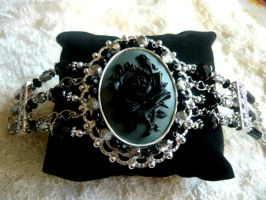 Dead Rose Gothic Bracelet by diwatox