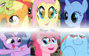 Mane Six Filly Wallpaper by Magna-Vis