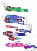 my awesome oc's 8D by aphSealand