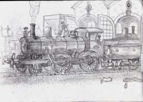 GER 2-4-0 Holden E4 steam loco by YanamationPictures