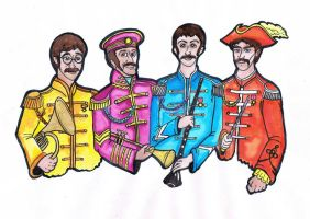 The Beatles by WforWumbo